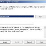 """Interneto naršyklė """"Opera"""" įspėja apie negaliojantį sertifikatą"""