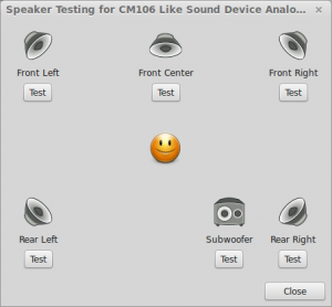 Linux Mint surround 5.1 sound test