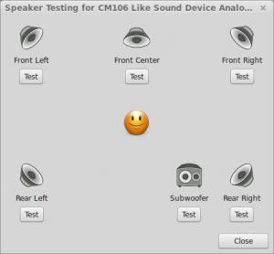 Linux Mint surround 5.1 sound test