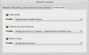 PulseAudio Surround 5.1 configuration
