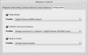 PulseAudio Surround 5.1 configuration