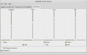 GNOME ALSA Mixer