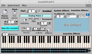 """ZynAddSubFX"" programinis sintezatorius"
