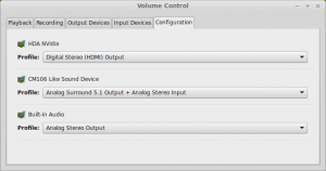 Sandberg USB Sound Box 7.1 settings in PulseAudio