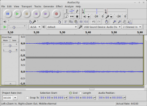 Stereo sound recorded through S/PDIF on Audacity