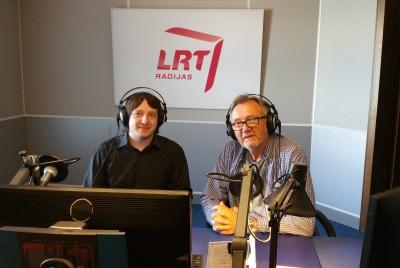 Gytis Repečka ir Saulius Liauksminas LRT radijo studijoje