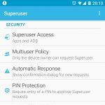 Superuser application settings